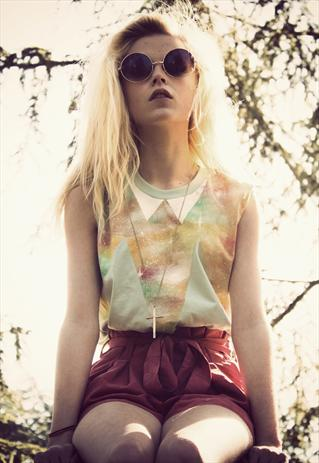 Hand-painted, Pastel Galaxy sleeveless T-Shirt  | We Are Hairy People | ASOS Marketplace