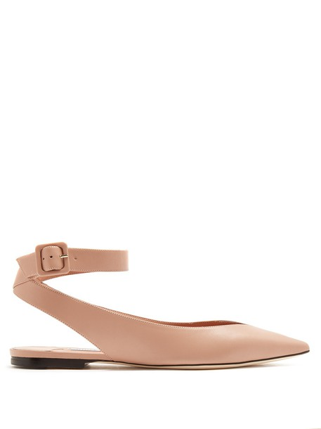Jimmy Choo flats leather flats leather nude shoes