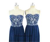 hot sale prom dress,navy prom dress,designer prom dress,dark navy prom dress,junior prom dress,homecoming dress,beaded dress,formal dress