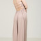 Elastic tube top maxi dress