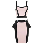 dress,bqueen,fashion,girl,lady,party,chic,sexy,pink,black,bandage,two-piece,set