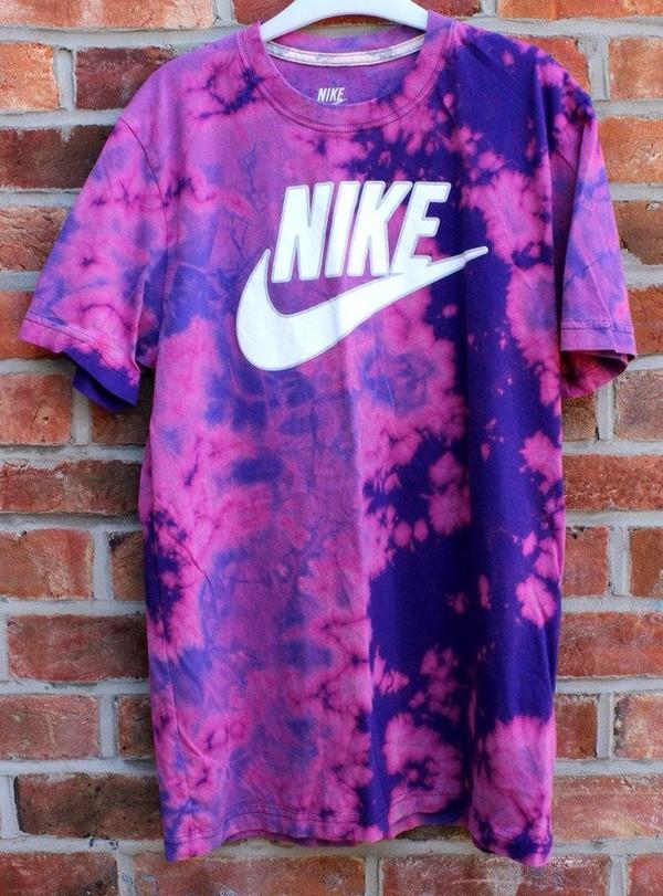 Nike tie dye top acid wash urban galaxy festival t shirt for Custom acid wash t shirts