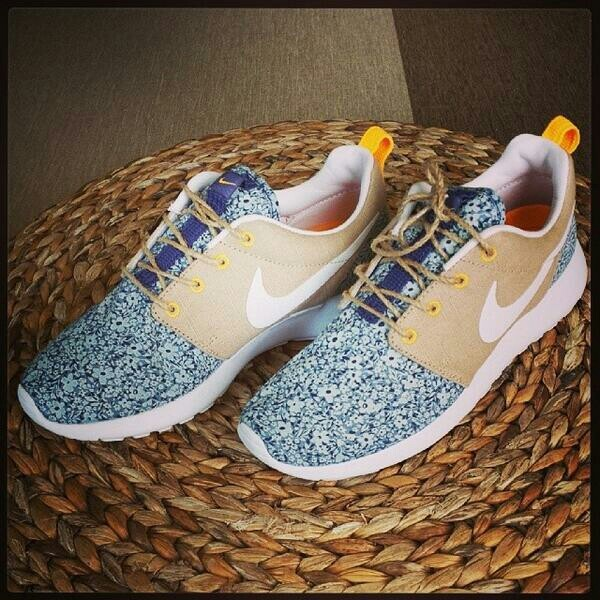 shoes flowers floral nike running shoes nike roshe run nike roshe run nike roshe run