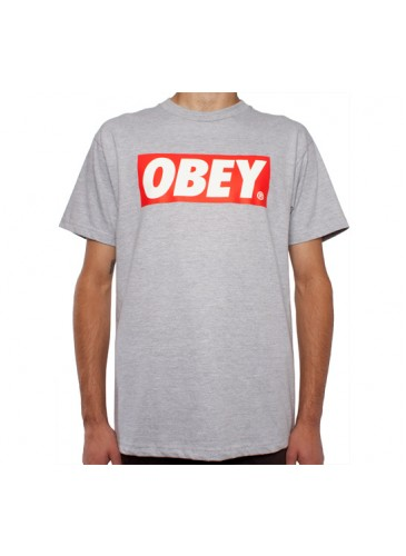 Obey Bar Logo T-Shirt (Heather Grey) - Consortium.