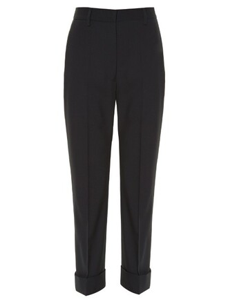cropped high black pants