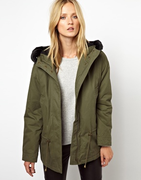 Selected Deggan Short Parka at ASOS