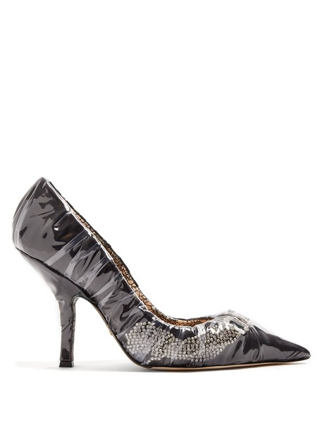 PACIOTTI BY MIDNIGHT embellished satin black shoes