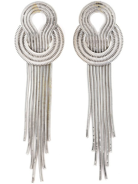 Lara Bohinc metal women earrings grey metallic jewels