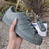 shoes,adidas wings,olive green,adidas,Army green adidas,adidas superstars,khaki,leather,matte,size 4-5,grey,sneakers,adidas shoes,tumblr,sexy