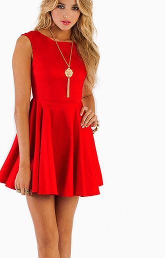 dress red dress red tobi skater dress prom dress
