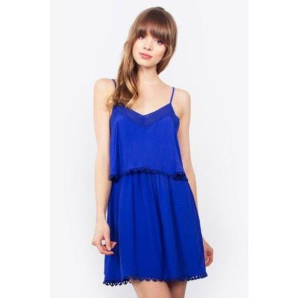 dress clothes dress blue sugar lips open back bikiniluxe