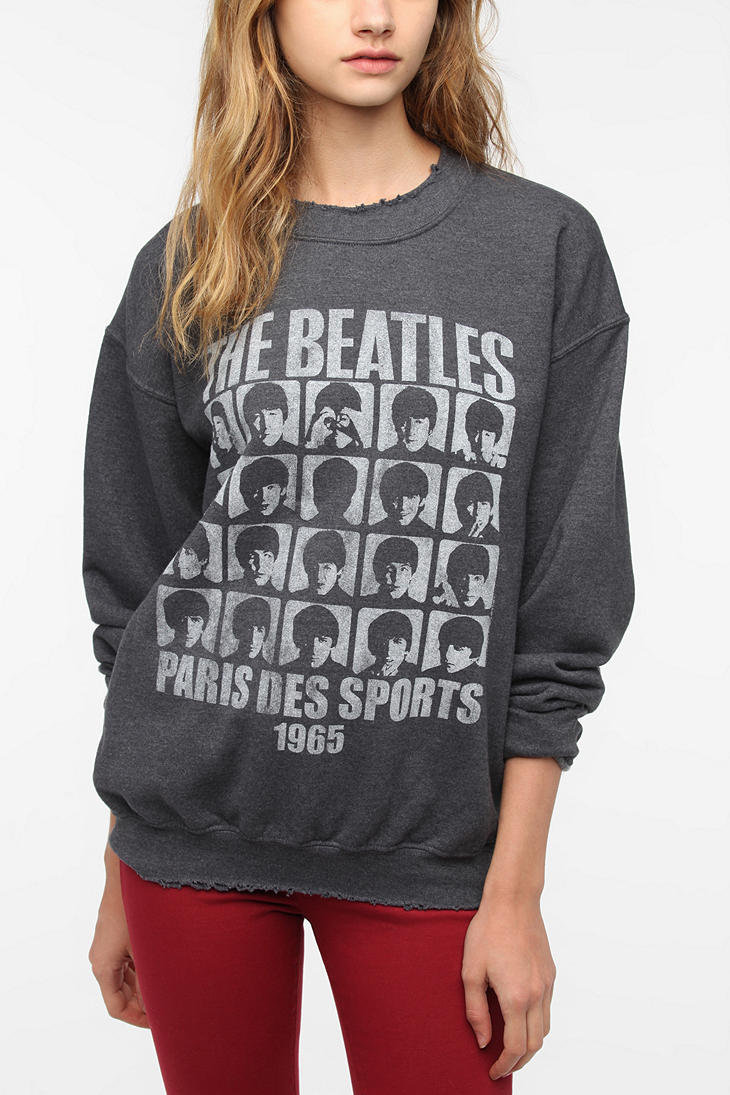 Urban Outfitters - Junk Food The Beatles Grid Sweatshirt on Wanelo