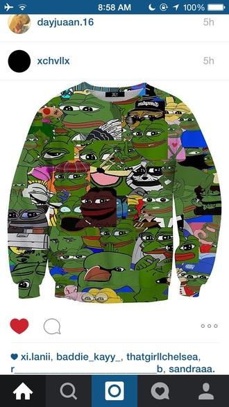 shirt sweatshirt hoodie jacket frog funny