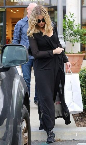 coat all black everything khloe kardashian fall outfits