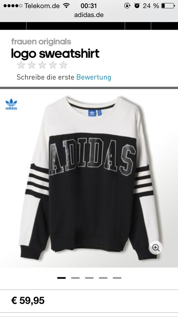 adidas adidas originals sweater black white
