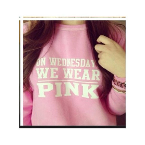 pink cute mean girls sweater