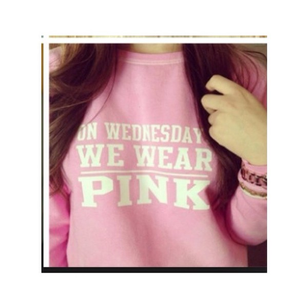 mean girls sweater cute pink