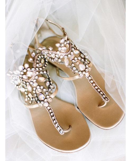 shoes bridal jewels boho bride flat sandals flats boho blush