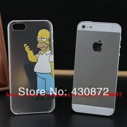Online shop hot unique transparent simpson case cover for iphone 5 5s hard cell phone cases covers to i5