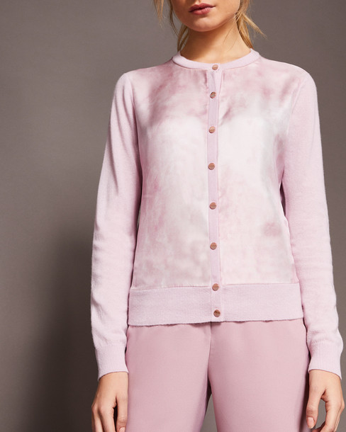Ted Baker cardigan cardigan silk pink sweater