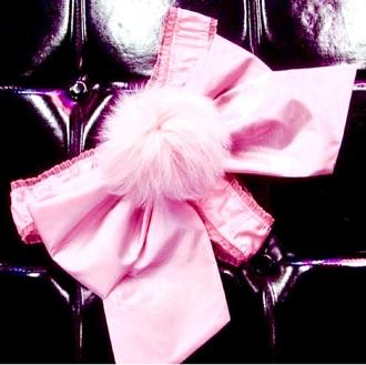 underwear pink bow satin pastel pink underwear ribbon pink bow pink ribbon bunny pink bunny pom poms pastel pink pink satin