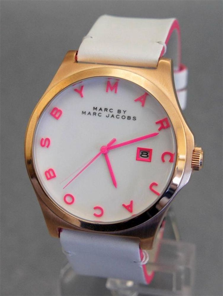 Brand New Lady Marc by Marc Jacobs Oversize Leather Watch MBM1248 Original Box | eBay