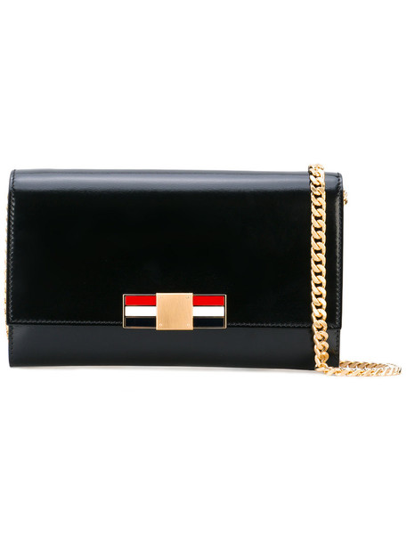 Thom Browne metal women clutch leather white blue black red bag
