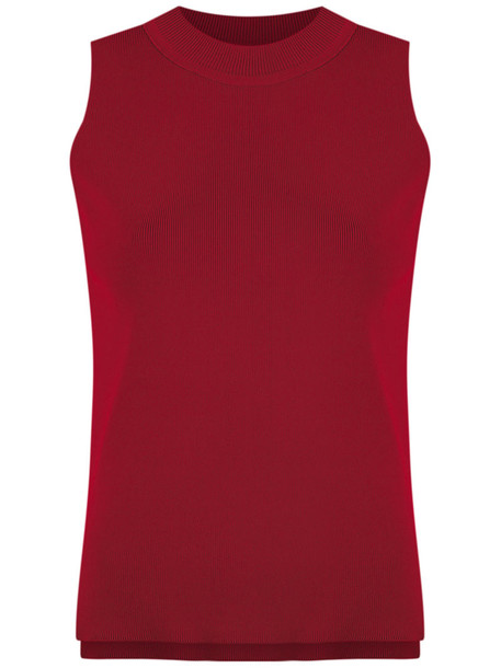EGREY blouse women knit red top