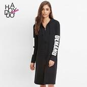 dress,spring,sporty,bonny,hooded jacket,letter t-shirts