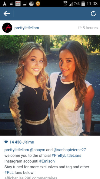 tank top top dress alison dilaurentis sasha pieterse emily fields white pretty little liars black dentelle blonde hair belt black and white