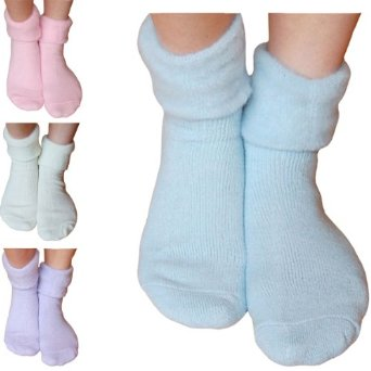 Ladies & Girls Super Soft Thermal Fleece Lined Warm Winter Bed Socks (Blue): Amazon.co.uk: Clothing
