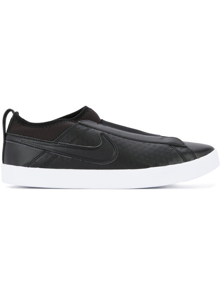 Nike women sneakers leather black shoes