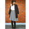 Chic stripes airy full midi skirt