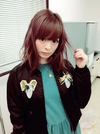 blouse bomber jacket black bomber jacket japanese black japan kyary jacket
