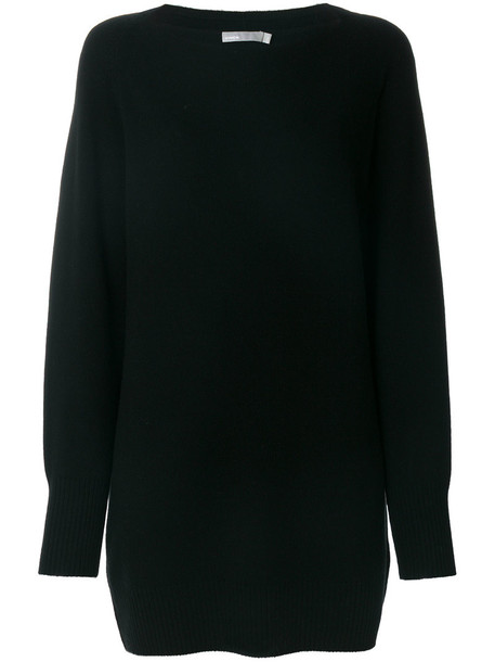Vince - knitted fitted dress - women - Cashmere/Wool - XS, Black, Cashmere/Wool
