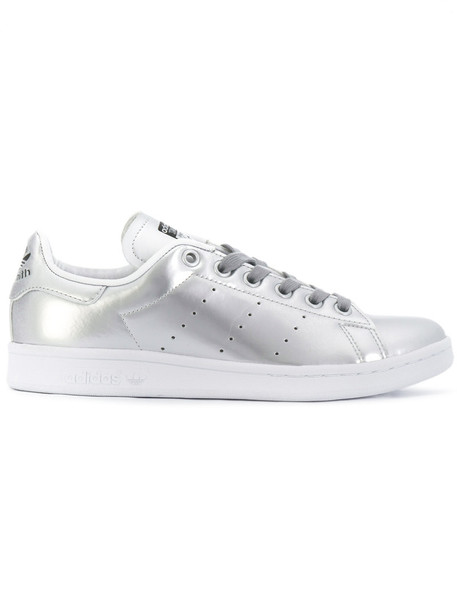 Adidas women sneakers leather grey metallic shoes