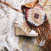 shoes,festival,tassle,wedges,lace-up shoes,lace up wedges,trendy,fashion,style,fringes,boho,qupid