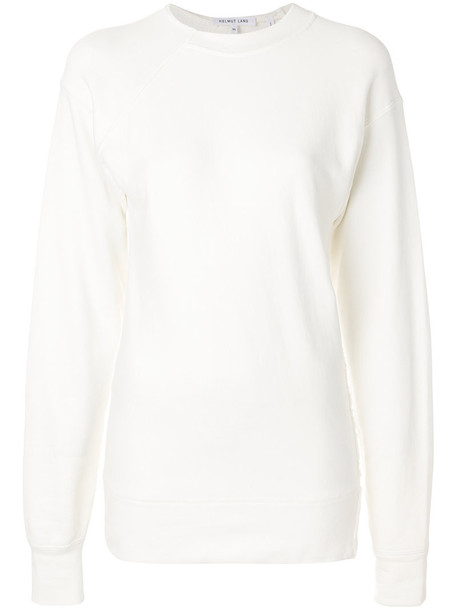 Helmut Lang sweater oversized sweater oversized women white cotton
