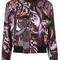 Versace - baroccoflage bomber jacket - women - silk - 46, pink/purple, silk