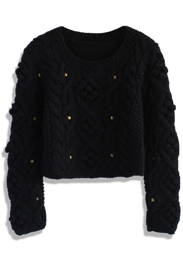 Retro Cozy Up Woolen Sweater in Black - Retro, Indie and Unique Fashion