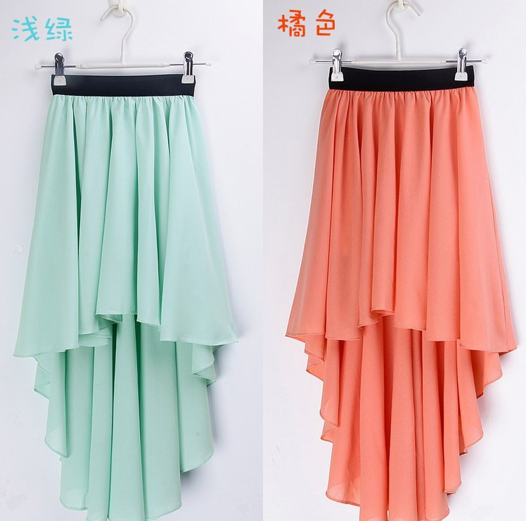 2013 NEW Women's Asymmetrical Soft Chiffon Skirt, Bohemian Princess Pleated Long Maxi Dance Skirts 8 colors  qz006-in Skirts from Apparel & Accessories on Aliexpress.com