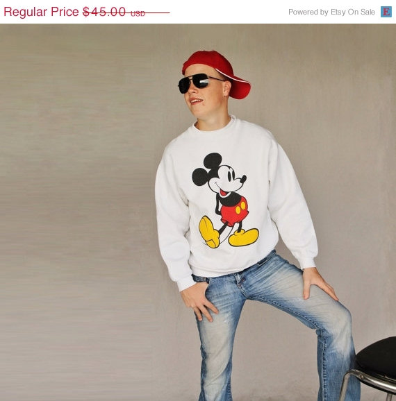 Haute Holiday Sale 1980's Mickey Mouse Sweat by MovieStarMale