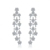 jewels,tassel earrings,cubic zirconia earrings,cz earrings,wedding jewelry