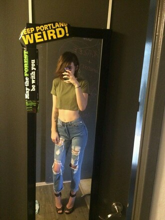 jeans high waisted jeans distressed denim jeans boyfriend jeans acacia brinley