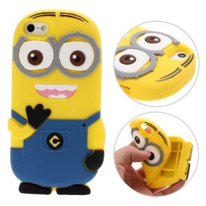 Amazon.com: 3D Despicable Me II Minions Style Silicone Case for iPhone 5 & 5S (Blue): Cell Phones & Accessories