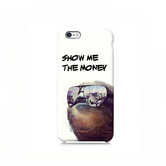 the latest cb617 77d51 Gangster Sloth iPhone case, iPhone 6 case, iPhone 6 Plus Case, iPhone 4s  case, iPhone 5 case iPhone 5s case 5c case, Galaxy S6 case, LG G3