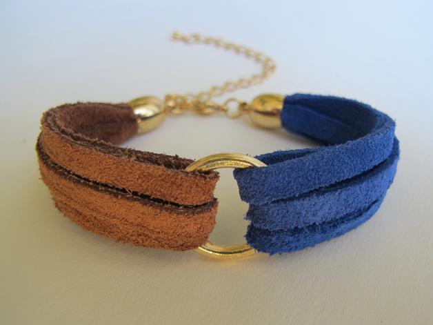 "Armbänder - ARMBAND ""Dual""  Lederarmband  - ein Designerstück von PiaKatz bei DaWanda"