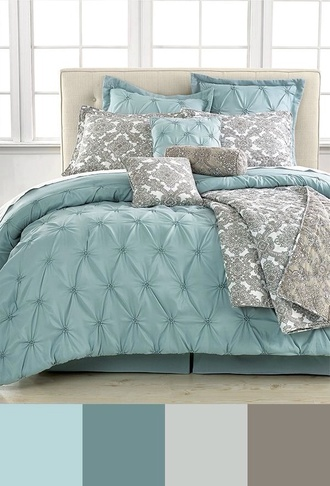 home accessory bedding bedroom classy grey