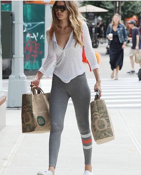 leggings gigi hadid new york city streetstyle yoga pants