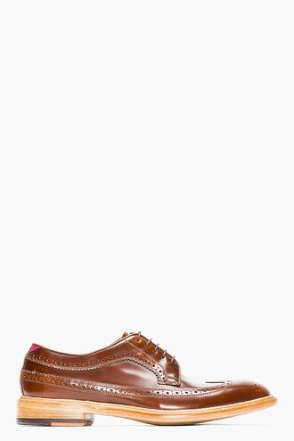 brogues leather shoes brown menswear casual shoes lincoln longwing